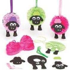 Buy Fluffy Sheep Pom Pom Decoration Kits at Baker Ross. Surely the fluffiest sheep you've ever seen! Pom pom sheep decorations for children to create - simply make the po Eid Crafts, Ramadan Crafts, Yarn Crafts, Easter Crafts, Diy And Crafts, Arts And Crafts, Diy For Kids, Crafts For Kids, Easter Craft Activities
