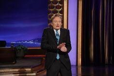 "Conan Does His Famous ""Evildoer Stroking A Cat"" Impression"