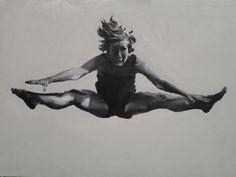 Saltadora II. Acrílico sobre tela.