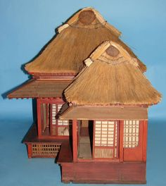 Extraordinary and Unique Model of a Japanese Tea House | From a unique collection of antique and modern architectural models at https://www.1stdibs.com/furniture/more-furniture-collectibles/architectural-models/