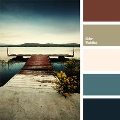 Bright almost acid turquoise shade that is balanced by calm brown-pink shade is the zest of this palette. Palette is very dynamic and lively, all the colou.