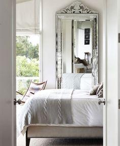calm silvery grey bedroom