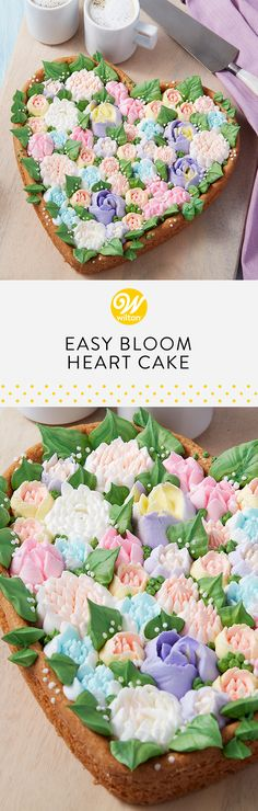 This gorgeous cookie is bursting with your favorite buttercream flowers! Piping these stunning flowers is easy with our Easy Blooms™ Tip Set, and the playful charm of a giant cookie makes for a sweet Mother's Day cake mom is sure to love! #wiltoncakes #cookies #cookiecake #cookieideas #cakes #cakeideas #cakedecorating #dessert #desserts #desserttable #buttercreamflowers #mothersday #brunch #brunching #brunchin #brunchtime #brunchlife #brunchdate #sundaybrunch #brunchparty