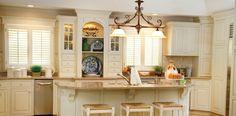 creamy white color for kitchen cabinets