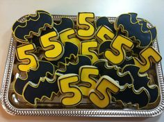 Batman sugar cookies by Rachelle's cookie factory. www.facebook.com/rachellescookiefactory
