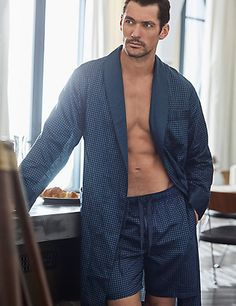David Gandy for Marks & Spencer Supima® Cotton Printed Pyjama Shorts