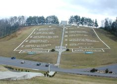 World's largest 10 Commandments. Written onto a hillside. Gets millions of visitors every year and many foreigners come to America just for this. Beautiful! Steps are super high and long plus tiring!!