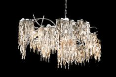 Modern Lighting Design, Metal Curtain, Modern Chandelier, Chandeliers, Real Life, Ceiling Lights, Sculpture, Contemporary, Wings
