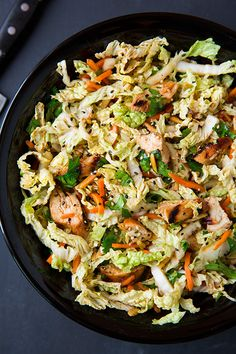 Grilled Ginger-Sesame Chicken Chopped Salad - such a great salad! Love all the textures and has an amazing flavor!