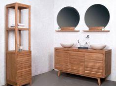 salle de bains nature double vasque