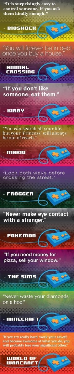 Life Lessons Learned From Video Games - Imgur
