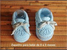 Crochet Sole, Crochet For Boys, Crochet Baby Booties, Knit Crochet, Baby Knitting Patterns, Crochet Patterns, Baby Chucks, Knitting Videos, Crochet For Beginners