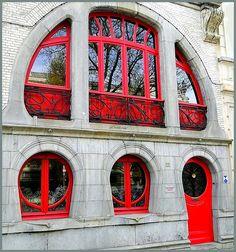 Art Nouveau houses in Antwerp 1 | Beeldhouwersstraat, Antwerpen, Belgium.