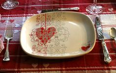 Image detail for -heart plates had matching bowls and lynn has had them for years
