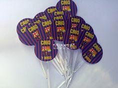 Palitos decorativos - FC Barcelona  :: flavoli.net - Papelaria Personalizada :: Contato: (21) 98-836-0113 - Também no WhatsApp! vendas@flavoli.net