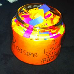 """Cute valentine idea, """"365 reasons I love you most"""" super cheap and easy DIY gift(:"""