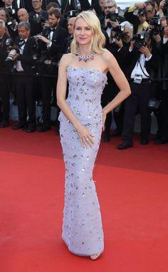 Naomi Watts in Giuseppe Zanotti heels at the opening ceremony premiere of Café Society.