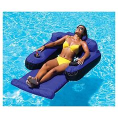Swimline swimming pool toys - Floating Lounge Chair - 9047 - Plain and Simple Deals - no frills, just deals Floating Lounge Chairs, Pool Chairs, Swimming Pool Water, My Pool, Pool Fun, Kiddie Pool, Inflatable Pool Loungers, Inflatable Chair, Inflatable Island