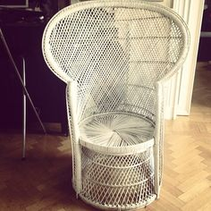 Wow! My fiancee has bought a vintage wicker chair, like the one in The Addams Family TV show! #amazed - @batmancollection