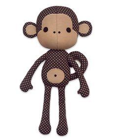 Cute Monkey Softie sewing pattern by DIY Fluffies