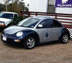 Cowboy Beetle. Dallas Cowboy Car.
