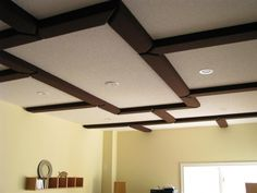 Design ideas, tips, and techniques for a unique coffered ceiling in kitchens, living rooms, basements and more