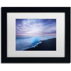 Trademark Fine Art 'Ephemeral Blue' Canvas Art by Philippe Sainte-Laudy, White Matte, Black Frame, Size: 11 x 14, Multicolor