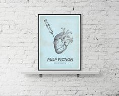 PULP FICTION Movie Poster Heart Pulp Fiction by BaydleCreative