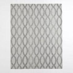 Linking Loops Wool Rug – Frost Gray #westelm