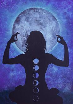 Celebration of the Full Moon Painting Wiccan, Namaste, Witchy Wallpaper, Disney Fun Facts, Alien Queen, Moon Painting, Wolf, Fun Worksheets, Moon Art
