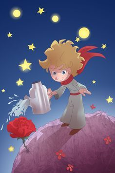 Le Petit Prince    is the time you have spent with your rose that makes  your rose so important. aa080194b7b