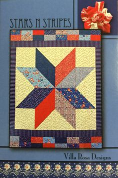 Stars N Stripes Quilt Pattern by QuiltingByRita on Etsy