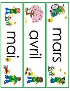 spring month word wall cards in French French Teaching Resources, English Activities, Teaching French, Teaching Kids, Kindergarten Language Arts, Core French, Elementary Spanish, French Classroom, Education Logo