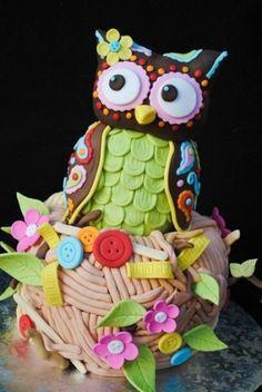 95 Besten Eulen Kuchen Bilder Auf Pinterest Fondant Cakes
