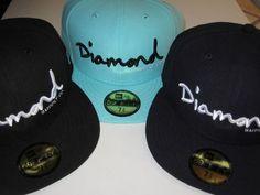 New Era Diamond Supply Co Brilliant Edition Fitted hats Diamond Blue Navy Black #NewEraxDiamondSupplyCo #FittedHats