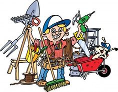 Busy Builder Stock Photo