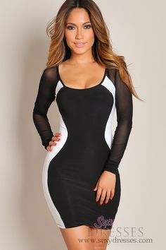 Cheap dresses-Sexy White and Black Silhouette Dress- party dress.. Website with cheap dresses