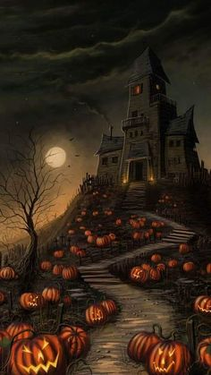 Retro Halloween, Spooky Halloween, Fröhliches Halloween, Halloween Painting, Halloween Haunted Houses, Halloween Desserts, Halloween Pictures, Halloween Themes, Halloween Forum