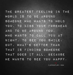The greatest feeling in the world …