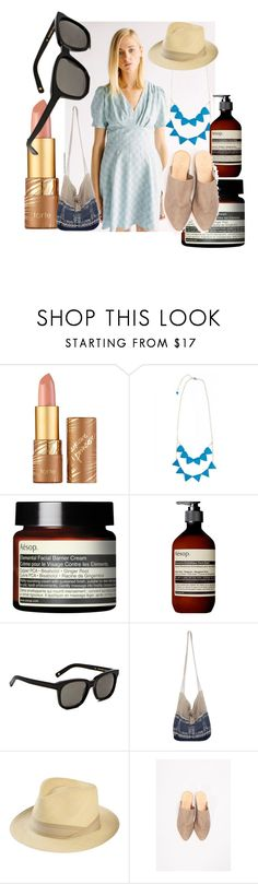 """Mules look 3"" by sustainableoutfits ❤ liked on Polyvore featuring tarte, Aesop, DICK MOBY, NOVICA and Pachacuti"