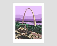 st. louis gateway arch missouri mississippi river old cathedral photo-graphic art print by jonathanbenning on Etsy