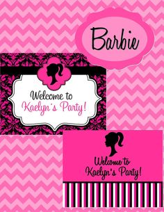 Vintage Barbie Party  Girls Birthday Party  by KROWNKREATIONS, $3.99
