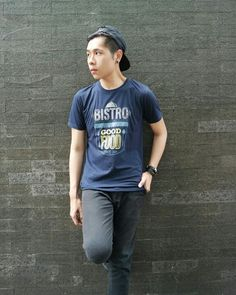BISTRO GOOD FOOD TSHIRT [Blue] 89K