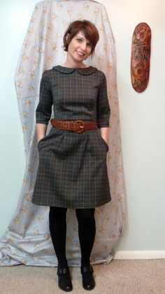 Shanni Loves...: Sew Colette 2.0 : The Peony with peter pan collar and pleats