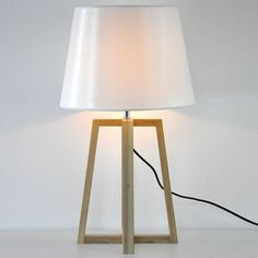 "Empire Shaded 27.5""High Designer Table Lamp with Wood Tripod Design. #lighting #light #illumination #highlighting #lamps"