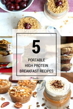 5 Portable Healthy, High Protein Breakfast Recipes {gluten free, dairy free, allergy friendly}