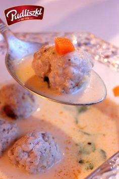Orientalna, kremowa zupa z pulpecikami. #pudliszki #przepis