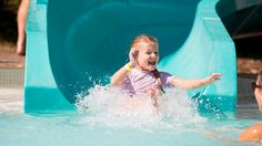 Indoor and outdoor swimming pools and an indoor water playground with docks, rope swings and more make Plunge! Outdoor Swimming Pool, Swimming Pools, Stuff To Do, Things To Do, Water Playground, Family Destinations, Water Games, Water Slides, Blue Mountain
