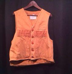 Vintage Hunting Vest Storm-Pruf 100% Cotton L With Duck Bag Large  #StormPruf