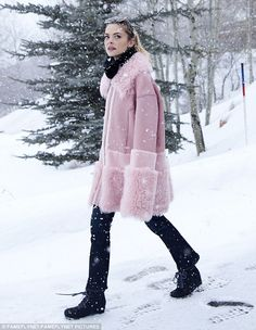 Winter wonderland: Jaime King, 37, took some time out of her busy Sundance schedule to tak...